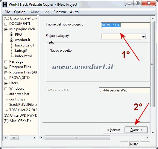 HTTrack Website Copier come copiare o scaricare un sito sul